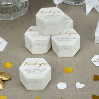 Scripted Marble Favour Boxes (10)